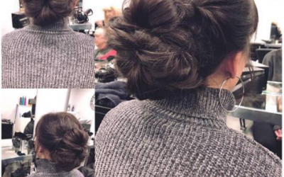 Hair up or Down? at Darren James Bye hairdressing